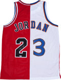 "Basketball Collectibles:Uniforms, Michael Jordan Signed ""Upper Deck Authenticated"" Jersey...."