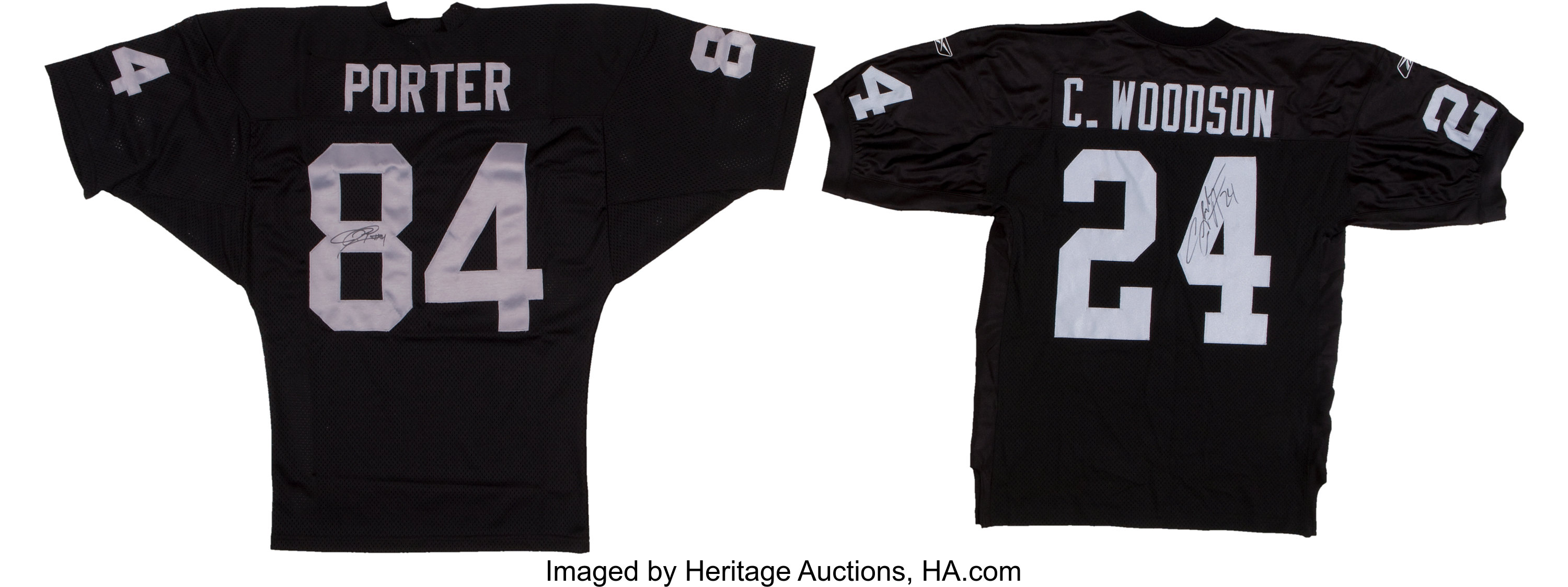 sports shoes 99e8c ca4a2 Charles Woodson and Jerry Porter Signed Jerseys Lot of 2 ...