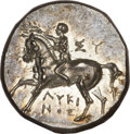 Ancients:Greek, Ancients: Taras. Ca. 280-272 BC. AR nomos (6.33 gm). ...