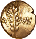 Ancients:Greek, Ancients: Trinovantes and Catuvellauni. Cunobelin (ca. AD 10-43).AV stater (5.46 gm)....