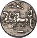 Ancients:Greek, Ancients: Gela. Ca. 415-405 BC. AR tetradrachm (17.22 gm). ...