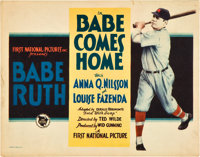 "Babe Comes Home (First National, 1927). Title Lobby Card (11"" X 14"")"