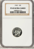 Proof Roosevelt Dimes: , 1962 10C PR69 Ultra Cameo NGC. NGC Census: (39/0). PCGS Population(52/0). Numismedia Wsl. Price for problem free NGC/PCGS...