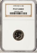 Proof Roosevelt Dimes: , 1970 10C No S PR67 Cameo NGC. NGC Census: (8/23). PCGS Population(19/31). Numismedia Wsl. Price for problem free NGC/PCGS...