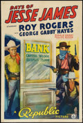 "Movie Posters:Western, Days of Jesse James (Republic, 1939). One Sheet (27"" X 41"").Western.. ..."