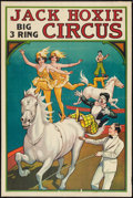 """Movie Posters:Western, Jack Hoxie Circus Poster (Jack Hoxie Circus, 1937). Poster (28"""" X 41""""). Western.. ..."""