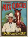 """Movie Posters:Western, Tom Mix Circus Poster (Tom Mix Circus, 1937). Poster (21"""" X 28""""). Western.. ..."""