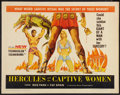 "Movie Posters:Adventure, Hercules and the Captive Women (Woolner Brothers, 1963). Half Sheet(22"" X 28""). Adventure.. ..."