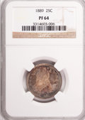 Proof Seated Quarters, 1889 25C PR64 NGC....