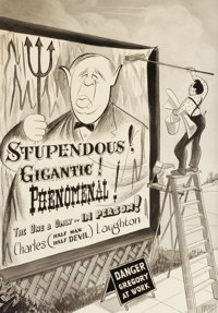 THE COLLECTION OF PAUL GREGORY AND JANET GAYNOR  AL HIRSCHFELD (American, 1903-2003) Charles L
