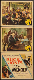 """Movie Posters:Western, The Avenger (Columbia, 1931). Title Lobby Card & Lobby Cards (2) (11"""" X 14""""). Western.. ... (Total: 3 Items)"""