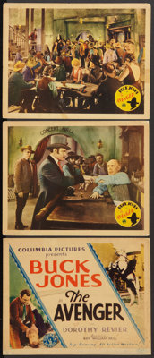"""The Avenger (Columbia, 1931). Title Lobby Card and Lobby Cards (2) (11"""" X 14""""). Western. ... (Total: 3 Items)"""