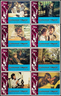 "The Beguiled (Universal, 1971). Lobby Card Set of 8 (11"" X 14"") and Pressbook(8.75"" X 13.75""). Thril..."