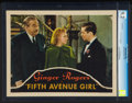 "Movie Posters:Comedy, Fifth Avenue Girl (RKO, 1939). CGC Graded Lobby Card (11"" X 14""). Comedy.. ..."