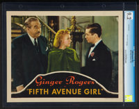 "Fifth Avenue Girl (RKO, 1939). CGC Graded Lobby Card (11"" X 14""). Comedy"