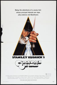 "A Clockwork Orange (Warner Brothers, 1971). One Sheet (27"" X 41"") X-Rated Style. Science Fiction"
