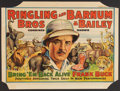 "Movie Posters:Adventure, Bring 'Em Back Alive Circus Poster (Ringling Brothers and Barnum& Bailey, 1938). Poster (21"" X 28""). Adventure.. ..."