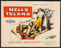 "Hell's Island Lot (Paramount, 1955). Half Sheets (2) (22"" X 28"") Styles A & B. Film Noir. ... (Total: 2 It..."