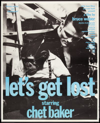 "Let's Get Lost (Zeitgeist, 1988). Poster (37"" X 46""). Documentary"