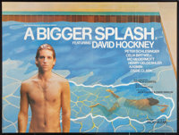 "A Bigger Splash (Laggon Assoc., 1974). British Quad (30"" X 40""). Documentary"