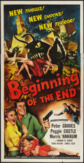 "Movie Posters:Science Fiction, Beginning of the End (Republic, 1957). Three Sheet (41"" X 81"").Science Fiction.. ..."