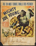 "Movie Posters:Adventure, Mighty Joe Young (RKO, 1949). Jumbo Window Card (22"" X 28"") Style B- Lion Attack. Adventure.. ..."