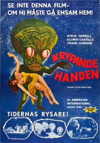 """Invasion of the Saucer-Men (American International, 1957). Swedish One Sheet (27.5"""" X 39.5""""). Science Fiction..."""