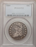 Bust Half Dollars: , 1809 50C Normal Edge Fine 12 PCGS, O-112, High R.5.. PCGSPopulation (13/492). NGC Census: (6/427). Mintage: 1,405,810.Num...