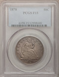 Seated Half Dollars: , 1878 50C Fine 15 PCGS. PCGS Population (1/106). NGC Census: (0/76).Mintage: 1,378,400. Numismedia Wsl. Price for problem f...