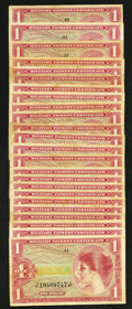Military Payment Certificates:Series 641, Series 641 $1 First Printing Fifteen Examples. Series 641 $1 SecondPrinting Eight Examples. Series 641 $1 Third Printing.. ... (Total:24 notes)