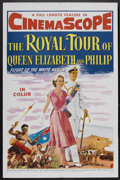 """Movie Posters:Documentary, The Royal Tour of Queen Elizabeth and Philip (20th Century Fox, 1954). One Sheet (27"""" X 41""""). Documentary. Narrated by Lesli..."""