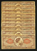 Military Payment Certificates:Series 641, Series 641 $10 Ten Examples Fine or Better - Part Two.. ... (Total:10 notes)