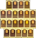 Baseball Collectibles:Others, Signed Hall of Fame Plaque Postcards Lot of 21....