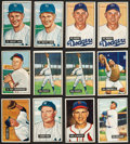 Baseball Cards:Lots, 1951 Bowman Baseball Star Collection With 2 Whitey Ford's and TedWilliams (12). ...