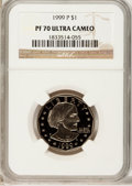 Proof Susan B. Anthony Dollars: , 1999-P SBA$1 PR70 Ultra Cameo NGC. NGC Census: (0). PCGS Population(417). Numismedia Wsl. Pr...