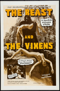 """The Beast and the Vixens (Sophisticated Films, 1974). One Sheet (27"""" X 41"""") and Pressbook (Multiple Pages, 11&..."""