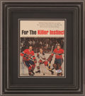 Hockey Collectibles:Photos, Jacques Laperriere Signed Display....