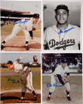 Baseball Collectibles:Photos, Major League Pitching Stars Signed Photographs Lot of 7....