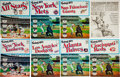 Baseball Cards:Sets, 1971 Dell American & National League Official Baseball Stamps and Albums, Complete Set (25)....