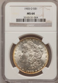 Morgan Dollars: , 1903-O $1 MS64 NGC. NGC Census: (2292/1581). PCGS Population (3700/2534). Mintage: 4,450,000. Numismedia Wsl. Price for pro...