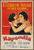 "Movie Posters:Musical, Rhapsody (MGM, 1954). Argentinean Poster (29"" X 43""). Musical.. ..."
