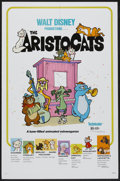 "Movie Posters:Animated, The Aristocats (Buena Vista, R-1980). One Sheet (27"" X 41"") and Pressbook . (Multiple Pages, 9"" X 12""). Animated.. ... (Total: 2 Posters)"