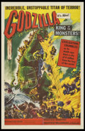 "Movie Posters:Science Fiction, Godzilla (Trans World, 1956). Autographed One Sheet (27"" X 41"").Science Fiction.. ..."