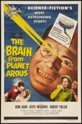 """Movie Posters:Science Fiction, The Brain from Planet Arous (Howco, 1957). One Sheet (27"""" X 41""""). Science Fiction.. ..."""