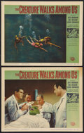 "Movie Posters:Horror, The Creature Walks Among Us (Universal International, 1956). Lobby Cards (2) (11"" X 14""). Horror.. ... (Total: 2 Items)"