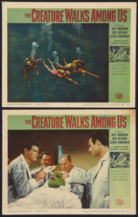 """The Creature Walks Among Us (Universal International, 1956). Lobby Cards (2) (11"""" X 14""""). Horror. ... (Total:..."""