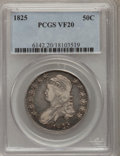 Bust Half Dollars: , 1825 50C VF20 PCGS. PCGS Population (4/1037). NGC Census: (7/885).Mintage: 2,900,000. Numismedia Wsl. Price for problem fr...