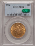 Liberty Eagles: , 1902 $10 MS62 PCGS. CAC. PCGS Population (162/116). NGC Census:(225/102). Mintage: 82,400. Numismedia Wsl. Price for probl...