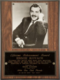 Movie/TV Memorabilia:Awards, Ernie Kovacs' Lifetime Achievement Award....
