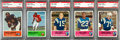 Football Cards:Lots, 1962 Fleer Football PSA-Graded Collection (5) With Kemp. ...